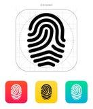 Fingerprint loop type icon. Royalty Free Stock Photography