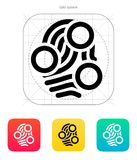 Fingerprint loop type scan icon. Vector illustration Royalty Free Stock Photography