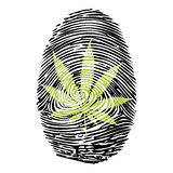Fingerprint-Marijuana-print Royalty Free Stock Photos