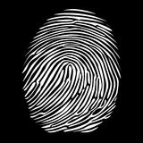 Fingerprint in negative Stock Images