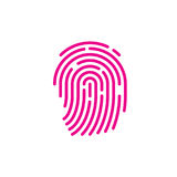 Fingerprint outline icon Royalty Free Stock Photos
