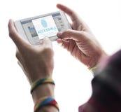 Fingerprint Password Biometrics Technology Concept Royalty Free Stock Image