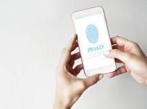 Fingerprint Password Biometrics Technology Concept Royalty Free Stock Photos