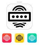 Fingerprint password icon. Vector illustration Stock Photos