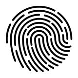 Fingerprint pattern. Image of black fingerprint pattern Stock Photos