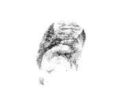 Fingerprint. On a photo fingerprint isolated on white Royalty Free Stock Photos