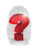 Fingerprint and question mark illustration design Royalty Free Stock Images