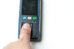 Fingerprint reader Stock Images