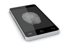 Free Fingerprint Reader On A Smartphone Royalty Free Stock Image - 38724256