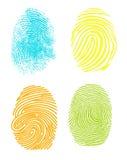 Fingerprint. Realistic fingerprint isolated on a white background. Fingerprint icon. Black fingerprint Stock Images
