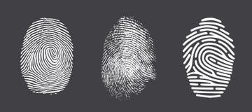 Fingerprint. Realistic fingerprint isolated on a white background. Fingerprint icon. Black fingerprint Stock Photography