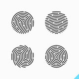 Fingerprint recognition icon. Touch ID app icon, fingerprint recognition Royalty Free Stock Photography