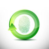 Fingerprint recognition software illustration. Design over white Royalty Free Stock Images