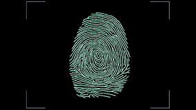 Fingerprint scan Access by Touch , ID stock footage