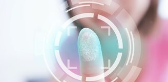 Fingerprint scan concept royalty free stock photos