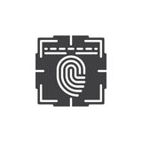 Fingerprint scan icon vector Royalty Free Stock Image