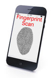 Fingerprint scan Royalty Free Stock Images
