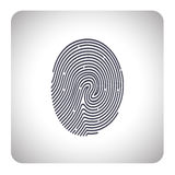 Fingerprint scan. On the image  is presented fingerprint scan Stock Image