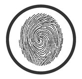 Fingerprint scan. On the image  is presented fingerprint scan Stock Images