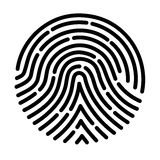 Fingerprint scan. On the image  is presented fingerprint scan Royalty Free Stock Photo