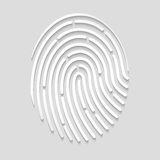 Fingerprint scan. On the image presented fingerprint scan Royalty Free Stock Image