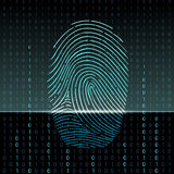 Fingerprint scan. Vector abstract image Royalty Free Stock Photos