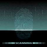 Fingerprint scan Stock Photos