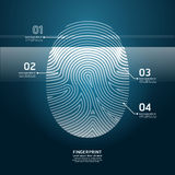 Fingerprint Scan vector design  illustration. Fingerprint Scan design vector illustration Royalty Free Stock Images