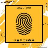 Fingerprint. Scanned finger icon. Element for your design Royalty Free Stock Image