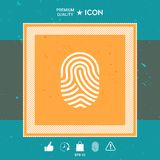 Fingerprint. Scanned finger icon. Graphic element for your design Royalty Free Stock Photos