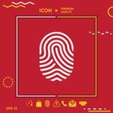 Fingerprint. Scanned finger icon. Graphic element for your design Stock Image