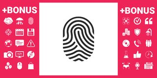 Fingerprint. Scanned finger icon. Signs and symbols - graphic elements for your design Royalty Free Stock Photography