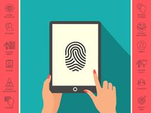 Fingerprint. Scanned finger icon. Signs and symbols - graphic elements for your design Stock Image