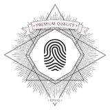 Fingerprint. Scanned finger icon. Signs and symbols - graphic elements for your design Royalty Free Stock Image
