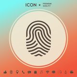 Fingerprint. Scanned finger icon. Signs and symbols - graphic elements for your design Royalty Free Stock Photo