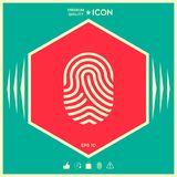 Fingerprint. Scanned finger icon. Signs and symbols - graphic elements for your design Stock Photography