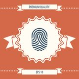 Fingerprint. Scanned finger icon. Signs and symbols - graphic elements for your design Stock Images