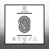 Fingerprint. Scanned finger icon. Sings, symbols - graphic elements for your design Stock Image