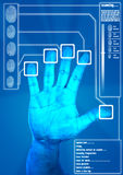Fingerprint Scanner royalty free stock images