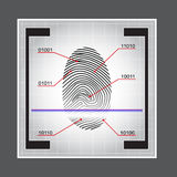 Fingerprint Scanner Access Granted Denied Vector Illustration Royalty Free Stock Photography