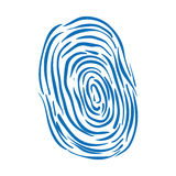 Fingerprint scanner icon. Security and Protection care. Vector g. Security and protection concept represented by fingerprint scanner icon. Isolated and flat Stock Photos