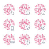 Fingerprint scanner icons on white background. Vector illustration. Fingerprint scanner icons on white background. Vector illustration Royalty Free Stock Images