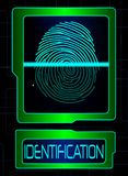 Fingerprint scanner, identification system. Illustration of Fingerprint scanner, identification system Stock Photography