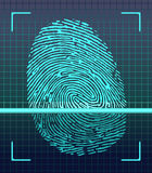 Fingerprint scanner. Identification system. Vector Stock Photos