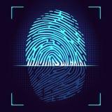 Fingerprint scanner Stock Photos