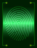 Fingerprint scanner Royalty Free Stock Photos