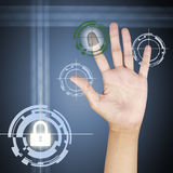 Fingerprint. Scanner. Security concept technology Royalty Free Stock Image