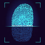 Fingerprint scanner. Royalty Free Stock Photography