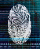 Fingerprint scanning. Security and technology, industrial scanning Stock Image