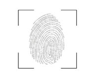 Fingerprint scanning Royalty Free Stock Image